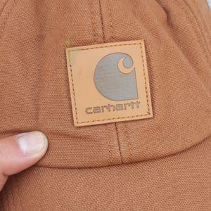 Carhartt Accessories - Carhartt tan canvas hat fleece lined